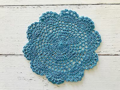 18 Cm New Aqua Crochet Lace Doily