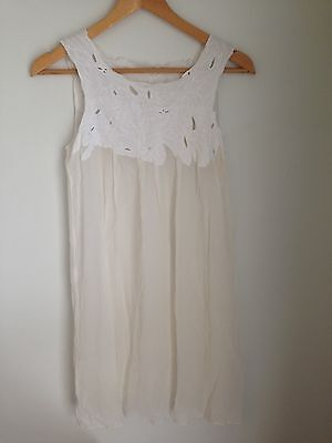 Vintage Lingerie Sheer Embroidered Dress or Nightgown