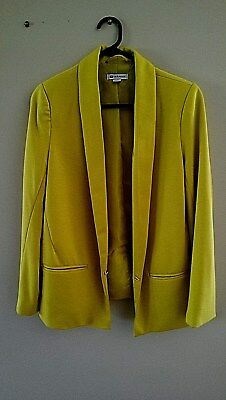 ROCKMANS YELLOW BLAZER. SIZE10. Very Good Condition.