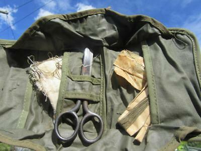 WW11 or Later ? Military Sewing Kit Buttons Needles Scissors Gauze Bandage.