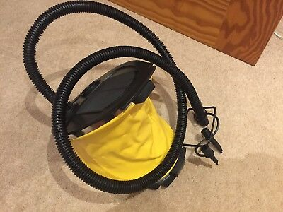 Air Foot Pump - for Inflatables, Black + Yellow