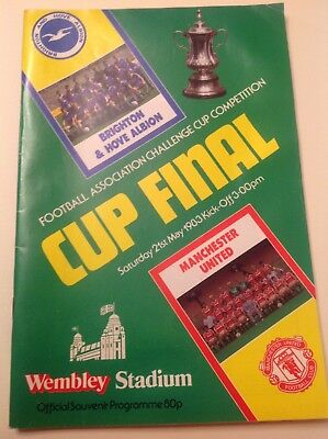 Brighton & Hove Albion v Manchester United FA Cup Final Programme 21 May 1983