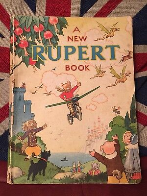 Rupert Annual 1945...original..not Price-Clipped..greycaines Print..super Book