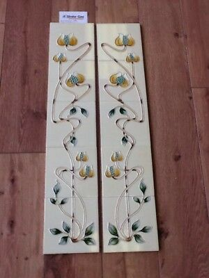 Victorian Cast Iron Fireplace Tile Set