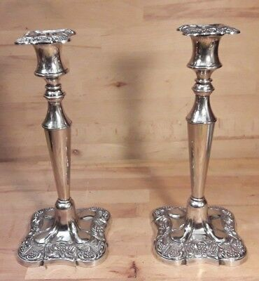 Matching Pair of Vintage Silver Plate Candlesticks