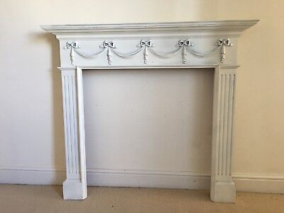 Victorian or Edwardian solid wood fireplace surround