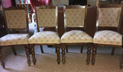 set of 4 Edwardian dining chairs