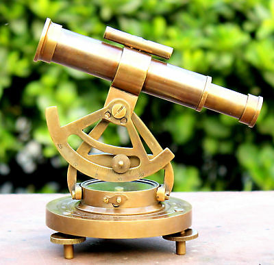Antique Solid Brass Working ALIDATE COMPASS With TELESCOPE Vintage Decorative