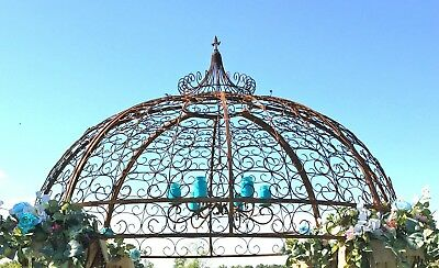 Wrought Iron Jester Gazebo Top Section - Create Garden Structure