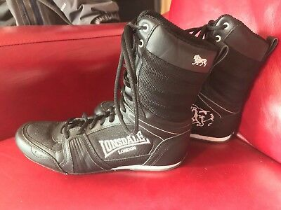 Lonsdale Contender Full Boxing Boots Lace Up Gents Mens SIZE 8