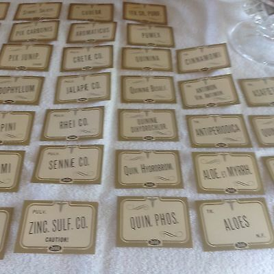 Vintage Pharmacy Item Antique Stock Bottle Labels (Rexall) 24 Titles