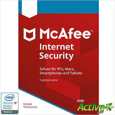 McAfee Internet Security 2019 Unlimited | Alle Ihre Geräte /PC,Mac,Android/ 1J