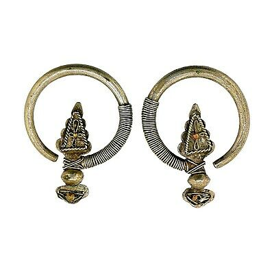 (2011) Antique silver earrings from Laos