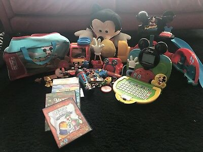 DISNEY Mickey Mouse Clubhouse Bundle- Clubhouse Toy, DVDs, Game, Bag, Characters