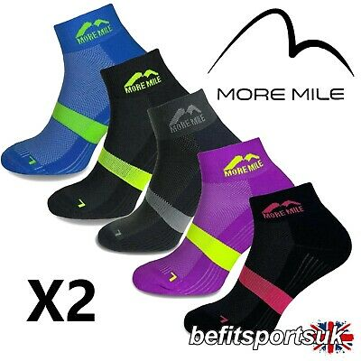 More Mile Mens Womens Ladies Preventer Twin Skin Blister Running Sports Socks 2