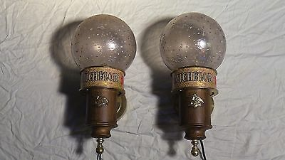 Vintage Michelob Beer Light Wall Sconces  Very Good Condition