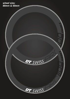 DT SWISS ARC 1100 RIM DECAL SETS for two wheels 88/60