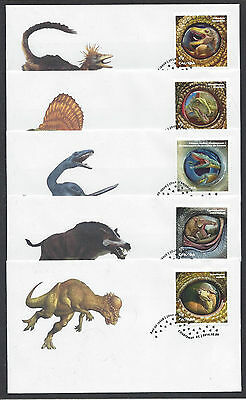 2016 Dinos of Canada Dinosaurs SCARCE Limited FDCs  3 scans