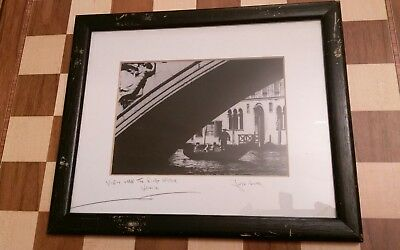 Fergus Noone Signed Framed Mounted Photograph View Under Rialto Bridge Venice