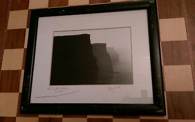 Fergus Noone Signed Framed Mounted Photograph The Cliffs of Moher Co.Clare 1990s