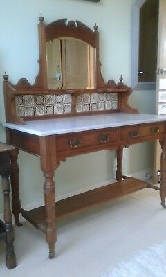 Edwardian Antique  Marble top  washstand