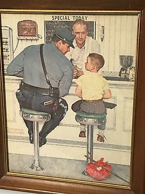"""Norman Rockwell """"The Runaway""""(1958) 11x14 Lithograph (PLEASE READ DESCRIPTION!!)"""