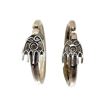 (2004)Antique silver tribal earrings.China