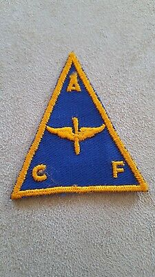 WW2 US Vintage Army Air Corps Cadet Patch Rare Triangle #137