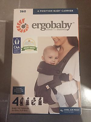 Brand New Ergobaby 360 4 Position Baby Carrier Carbon Grey Bc360Pblkgry Cool Air