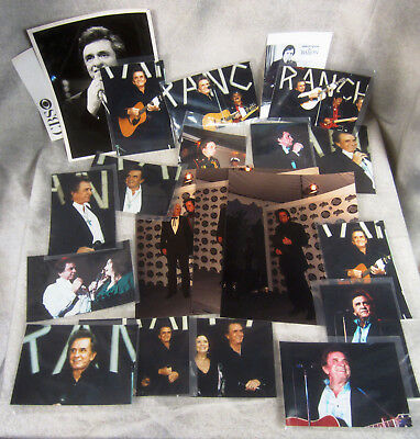 Johnny Cash Photo Lot Country Music Legend Man In Black Walk The Line 8x10 5x7