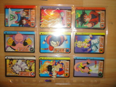Lot De 20 Cartes Card Dragon Ball Z Cardass Made In Japan 1994 1995 Dont 2 Prism