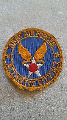 WW2 US Army Air Force Homefront Patch Sweetheart? Atlantic City, NJ #150