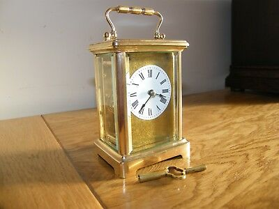 Excellent condition 5 glass French carriage clock masked dial GWO