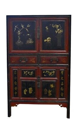 schrank china antik eur 898 00 picclick de. Black Bedroom Furniture Sets. Home Design Ideas