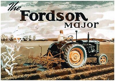 Fordson Major Tractor - Poster (A3) -  (3 for 2 offer) - (B)