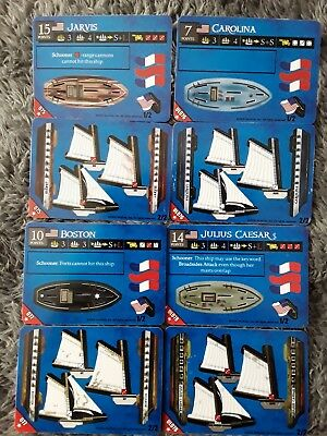 Wizkids Pirates Revolution 4 American schooners sequential lot 075-078 unpunched