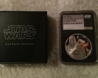 Star Wars 2016 silver 1oz Niue $2 Captain Phasma Early Release Pf70  Ngc cert  3