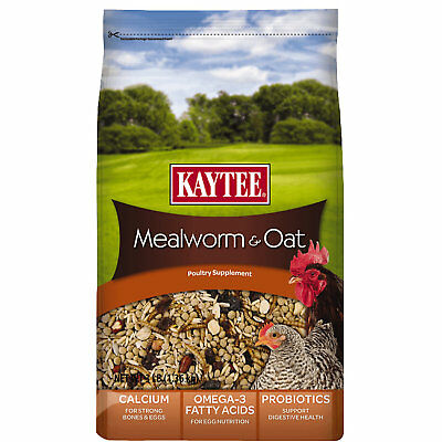 Kaytee Mealworms and Oats Poultry Supplement 3lb   (Free Shipping)