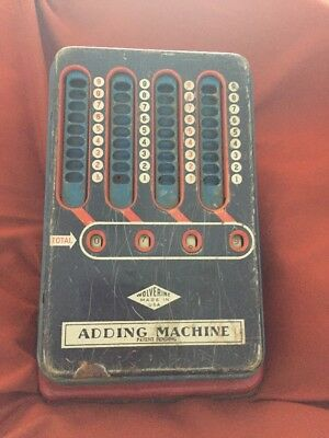 Vtg Wolverine Manual Operated Adding Machine Tin Toy Pittsburgh Pa