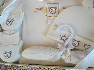 Lollipop Lane Teddy's Cottage 4 piece baby gift set. 3 - 6 mths  NEW SEALED