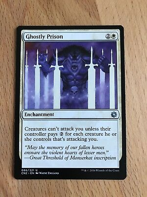 2x Ghostly Prison Conspiracy take the Crown Magic The Gathering
