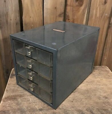 Vintage American Industrial Craftsman 4 Drawer Small Parts Hardware Cabinet USA