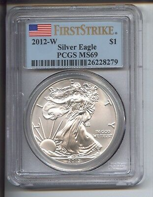 2012-W $1 Burnished Silver Eagle PCGS MS69 FIRST STRIKE