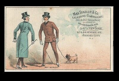 *rare*   Trade Card ~ 2 Max Stadler & Co.  (Shows Darling Dudes)
