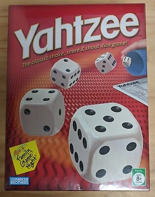 YAHTZEE classic dice board game, Brand new sealed