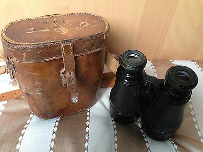 "J H Steward ""The Signaller"" Vintage Antique Binoculars (Strand,London) With Case"