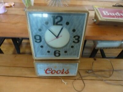 Coors beer Lighted Clock Sign Psychedelic Colors Advertising