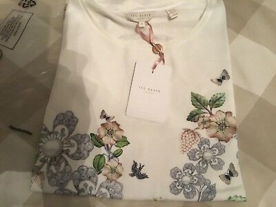 Ted baker ladies top bnwt size 4 round neck stunning