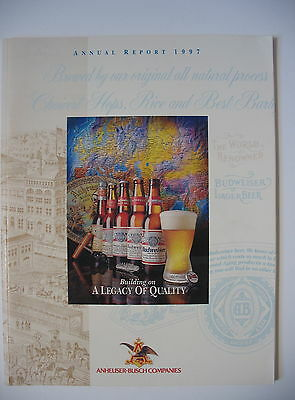 Anheuser-Busch Companies Annual Report 1997 with Historical Overview