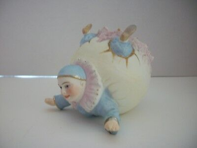 Vintage Pierrot Clown Trinket Pin Dish~Pierrot coming out of Egg~Easter